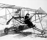 Mabel Normand Seated on Bi_Plane, Circa 1915