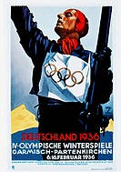 Fourth Olympic Winter Games, Garmisch _Partenkirchen, Germany, Poster, 1936