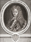 Louis de France, Son of France, Duke of Burgundy, 1682 –1712  Eldest son of Louis, Dauphin of France, and known as Le Petit Dauphin  From Les Heures L...