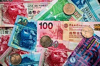 Hong Kong Dollar banknotes and coins