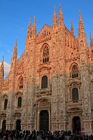 Sunset on the Duomo, Milan, Italy, Europe