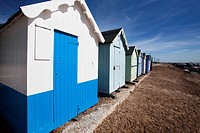 Beach Huts at Felixstowe Suffolk England