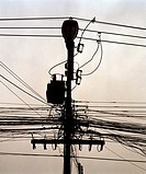 Telegraph lines in Chiang Mai, Thailand