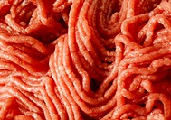 Raw minced beef close_up