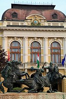 Hungary, Eger, Town Hall, Border Warriors Monument,