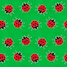 Seamless background _ ladybugs on green
