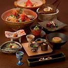 Japanese style hotel dinner