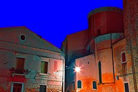 italy, venice: dorsoduro by night