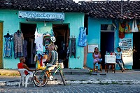 Colorful houses in the historical center of Arraial d'Ajuda, Bahia, Brazil, South America