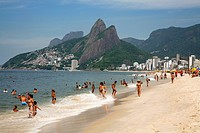 Ipanema beach, Rio de Janeiro, Brazil, South America