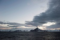 Mountains along the coastline, antarctica