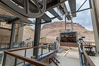 Cable car at the ancient fortification, masada southern district israel