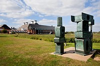 The Family of Man 1970, Barabara Hepworth Sculpture at Snape Maltings, Suffolk, England, United Kingdom, Europe