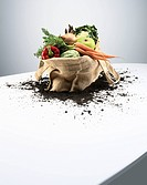 Organic vegetables in bag