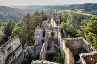 Austria, Upper Austria, View of ruin castle
