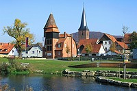 D-Luegde, nature reserve Teutoburgian Forest / Eggegebirge, Weserbergland, East Westphalia, Westphalia, North Rhine-Westphalia, NRW, Emmer promenade, ...