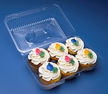 Cupcakes in container
