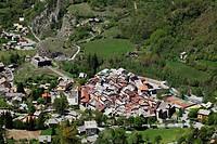 Medieval village of Colmars les Alpes, Alpes de Haute Provence, 04, PACA, France.