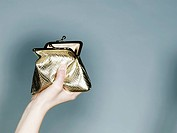 Hand with gold purse