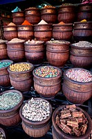 Spice shop, Marrakech, Morocco, North Africa, Africa