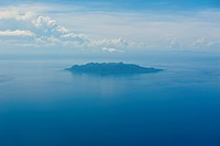 Aerial of the Sawo Island, Solomon Islands, Pacific