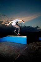 Skateboarder on a grind