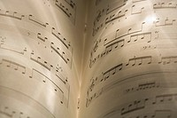 Close_up of music sheets