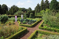 D-Krefeld, Rhine, Lower Rhine, Rhineland, North Rhine-Westphalia, NRW, D-Krefeld-Oppum, Botanical Gardens, Lower Rhenish cottage garden, hedge, boxwoo...