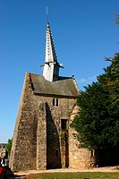 France, Brittany, Cotes d Armor, the tilted bell tower of Plougrescant