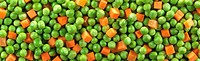 sliced carrots and peas