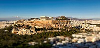 Panorama of the Acropolis and Athens