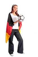Attractive german soccer fan