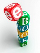 e_books 3d colorful cube tower
