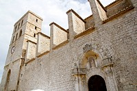 church from ibiza Castle Santa Maria Cathedral