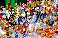 handmade colorful glass toys sold in outdoor fair