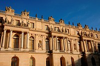 the facade of Versailles Palace