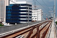 Railway track of sky train