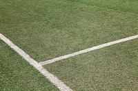 white line on soccer football field