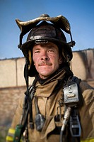 Close_up of a firefighter