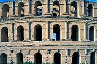 Tunisia, El Jem, Roman Amphitheater,