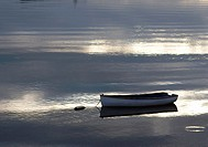 Dingy is a small boat in Buttermilk Bay, Massachusetts