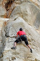 Sport Climbing in Patones, Madrid, Spain