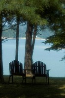 Lawn Chairs Soft Focus, Douglas Lake, East Tennessee, Recreation, Relaxation
