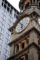 Clock tower of the former General Post Office, GPO, Martin Place, Central Business District, CBD, Sydney City, Sydney, New South Wales, NSW, Australia