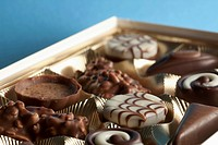 Detail of chocolates in a box (thumbnail)