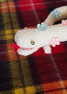 Knitted stuffed snake