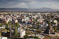 panoramic view, town of kars, north-eastern anatolia, turkey, asia
