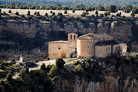 Chapel of San Frutos in Hoces del Duraton nature park, near Villaseca, Segovia province, Spain