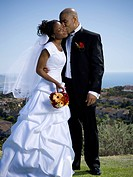African_American newlywed couple