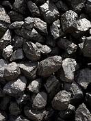 Close_up of coal rocks